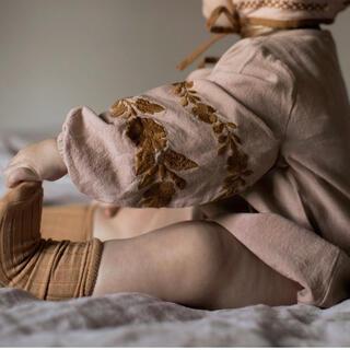 Caramel baby&child  - apolina kids アポリナ 花柄 刺繍 rompers ロンパース