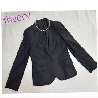 セオリー(theory)の 美品⭐︎セオリー theory  テーラードジャケット ストライプ(テーラードジャケット)
