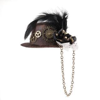 新品◆スチームパンクミニ帽子(その他)