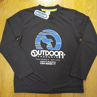 アウトドアプロダクツ(OUTDOOR PRODUCTS)の160cm  タグ付き新品  アウトドアプロダクツ  長袖Tシャツ  黒(Tシャツ/カットソー)