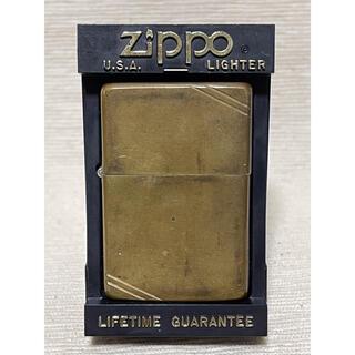 ジッポー(ZIPPO)のZIPPO ジッポー SOLID BRASS 1986年製(タバコグッズ)
