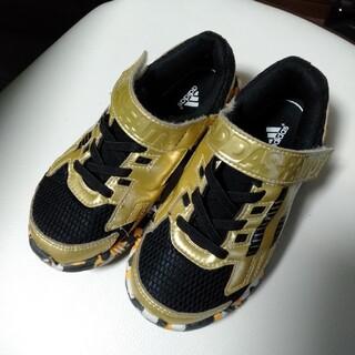 adidas - adidas キッズ スニーカー 靴 子供 ゴールド/ブラック 18cm