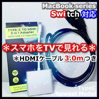 2点 Type-C 変換 アダプタ HDMI ケーブル 3.0m switch