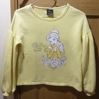 ジーユー(GU)のディズニー 美女と野獣 ベルのトレーナー サイズ140 [673](Tシャツ/カットソー)