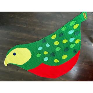 アチャチュムムチャチャ(AHCAHCUM.muchacha)のムチャチャ(あちゃちゅむ)鳥の膝掛け ブランケット(マフラー/ショール)