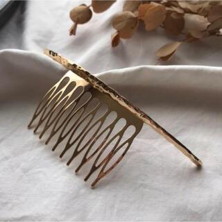Kastane - hair comb-gold-