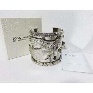 トーガ(TOGA)の定価3.1万 TOGA VIRILIS メタル バングル シルバー 日本製 (バングル/リストバンド)