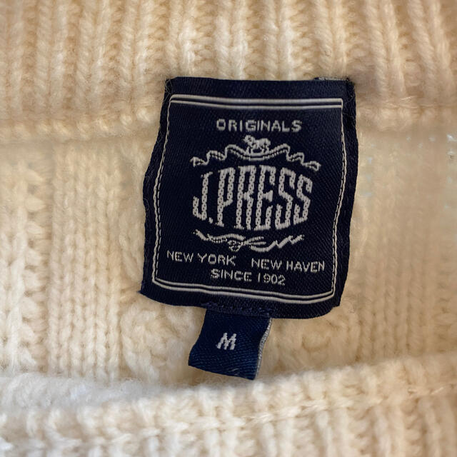 J.PRESS(ジェイプレス)のJ.プレス J.Press ニット セーター 白メンズ メンズのトップス(ニット/セーター)の商品写真
