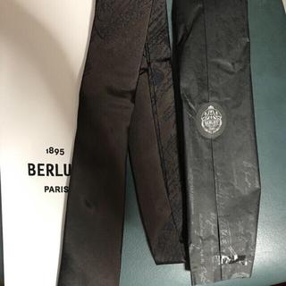 Berluti - 新品 ベルルッティ ネクタイ ブラック ロゴ