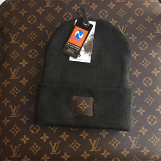 LOUIS VUITTON - LV custom knit cap dark brown