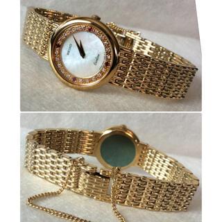 セイコー(SEIKO)の美品‼️セイコーエクセリーヌ 20Pダイヤ× 4Pルビー レディース 腕時計(腕時計)