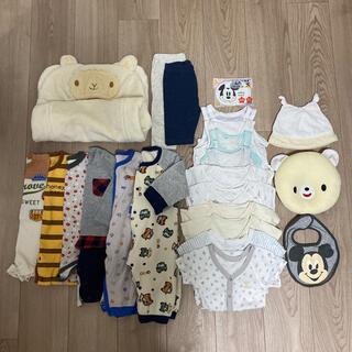 60-70 ベビー 洋服 まとめ売り 肌着 小物男の子 長袖 半袖 おくるみ(カバーオール)