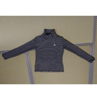 ルコックスポルティフ(le coq sportif)のルコック ハイネック長袖Tシャツ S グレー/ブラックボーダー(Tシャツ(長袖/七分))