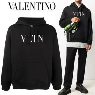 ヴァレンティノ(VALENTINO)の1 VALENTINO VLTN ロゴ パーカー フーディー size L(パーカー)