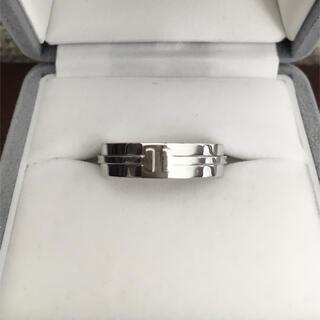 ティファニー(Tiffany & Co.)のティファニー T ナロー ワイド リング K18WG 5.5mm 10.5g(リング(指輪))
