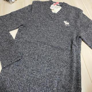Abercrombie&Fitch - 美品!アバクロ ニット セーター ウール100% グレー