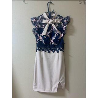 デイジーストア(dazzy store)のキャバドレス リボン付き Sサイズ(ナイトドレス)