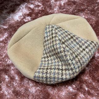 スタディオクリップ(STUDIO CLIP)のstudio clip ハリスツイード コラボ ベレー帽(ハンチング/ベレー帽)