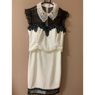 dazzy store - キャバドレス ビジュー 襟付き Sサイズ