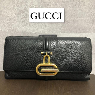 Gucci - 【良好】グッチ 長財布 レザー ダブルホック G