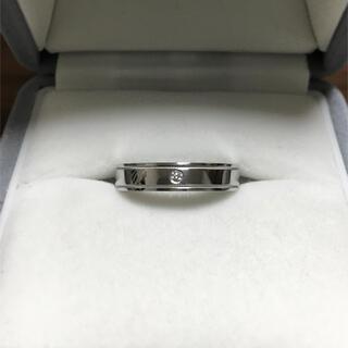 Tiffany & Co. - ティファニー ダイヤモンド ダブルミルグレイン リング Pt950 6.6g