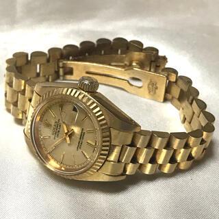 レディース 自動巻時計 デイトジャストタイプ ゴールド ノベルティ品