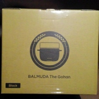 BALMUDA - バルミューダ 3合炊き 電気炊飯器 ブラックBALMUDA