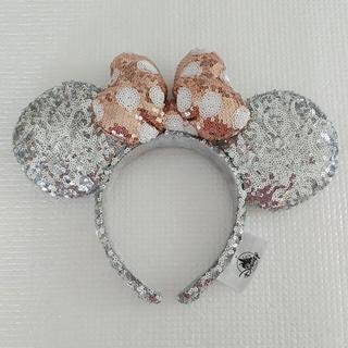 ディズニー(Disney)の日本未発売❣️海外ディズニー シルバー&ゴールドスパンコールカチューシャ ミニー(カチューシャ)