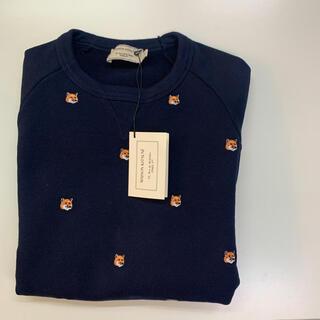 MAISON KITSUNE' - 定価4万 maison kitsune メゾンキツネ 刺繍 スウェット 新品