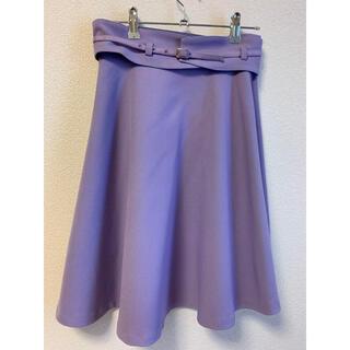 プロポーションボディドレッシング(PROPORTION BODY DRESSING)のコルセットベルト付き フレアスカート 定価1万円(ひざ丈スカート)