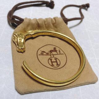Hermes - エルメス ヴィンテージ ジュバルホース バングル ゴールド