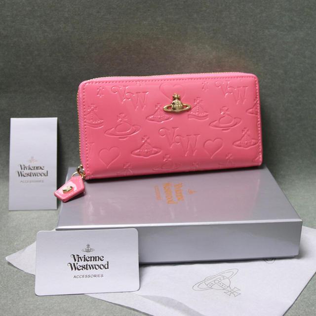 Vivienne Westwood(ヴィヴィアンウエストウッド)のヴィヴィアンウエストウッドピンク色長財布 レディース