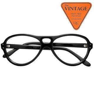 50sデッドUSAヴィンテージ黒アビエイター ティアドロップサングラス ブラック(サングラス/メガネ)