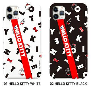 サンリオ(サンリオ)のiPhone12mini ケース ハローキティ ブラック(iPhoneケース)