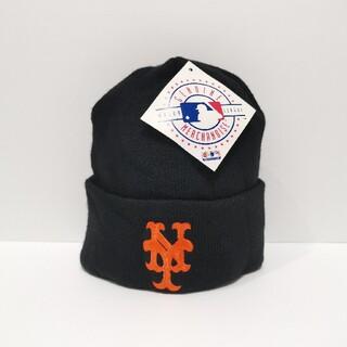 ニューエラー(NEW ERA)の90s NY METS メッツ ビーニー CAP キャップ MLB USA製(ニット帽/ビーニー)