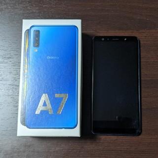 Galaxy - galaxy a7 ブルー SIMフリー 美品