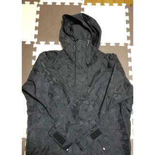 アベイシングエイプ(A BATHING APE)のAPE スノボジャケット ジャガードカモ ブラック ゴアテックス M (マウンテンパーカー)