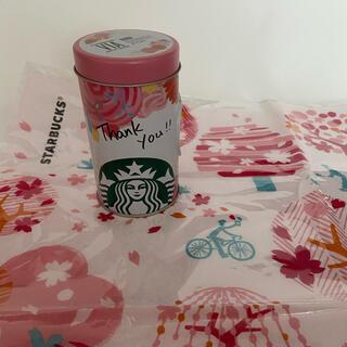 Starbucks Coffee - ★スターバックス スタバ★レア!セット クロス&缶(中身空) ピンク 桜 花