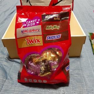 エムアンドエムアンドエムズ(m&m&m's)のアメリカ菓子 バレンタイン バラエティーチョコ 大袋セット(菓子/デザート)