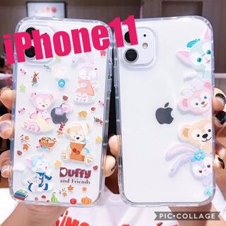 新品 iPhone11 ダッフィー フレンズ スマホケース ディズニー カバー