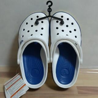 クロックス(crocs)のクロックス フロントコート 26cm 青×白(サンダル)