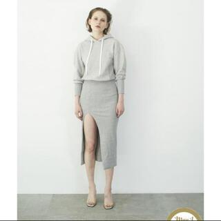 ロザリームーン(Rosary moon)の新品タグ付き Front Slit Hoodie Dress(ロングワンピース/マキシワンピース)