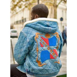 Supreme - supreme quilted denim pilot jacket