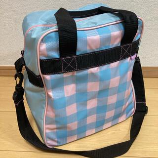 KAZAMA ブーツケース ジュニア用 水色×ピンク(その他)