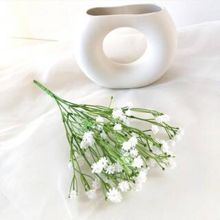 SALE ☆大人気☆ドーナツ型 花瓶 白 おしゃれ インテリア 置き物(花瓶)