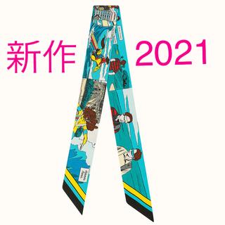 エルメス(Hermes)の新作ツイリー 2021春夏 Wow エルメス 新品 未使用 ブルー(バンダナ/スカーフ)
