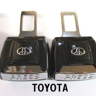 DX版 トヨタ TOYOTA シートベルト アラーム消音 延長 バックル 2個(車内アクセサリ)