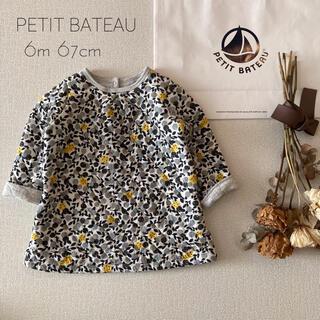 PETIT BATEAU - PETIT BATEAU|プチバトー 木の実柄⚚チュニック*̩̩̥୨୧˖