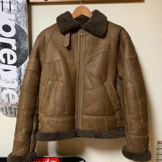 シュプリーム(Supreme)のsupreme patchwork shearling b-3 jacket(レザージャケット)