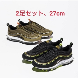 NIKE - UNDEFEATED × NIKE AIR MAX 97 2色SET 27cm